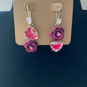 💋Betsey Johnson Hearts And Roses Earrings 💋